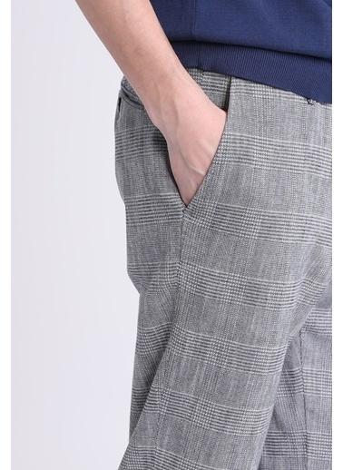 Lufian Kareli Kumaş Pantolon Gri